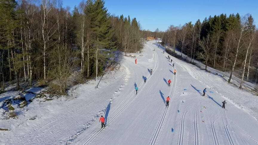 Skövde på vintern Åka skidor